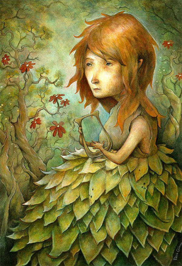 Jeune fille à la lyre