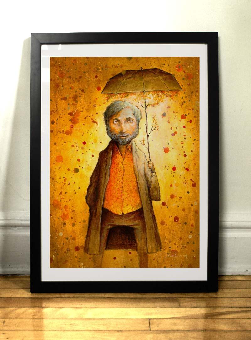 Le beau temps sous la pluie art print by Felix Girard