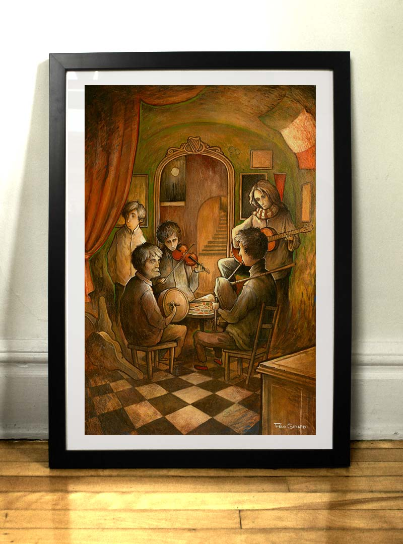 Le Jam painting Felix Girard artist