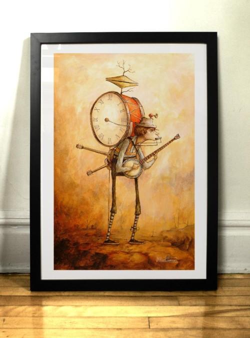 Impression l'homme-orchestre par l'illustrateur Félix Girard