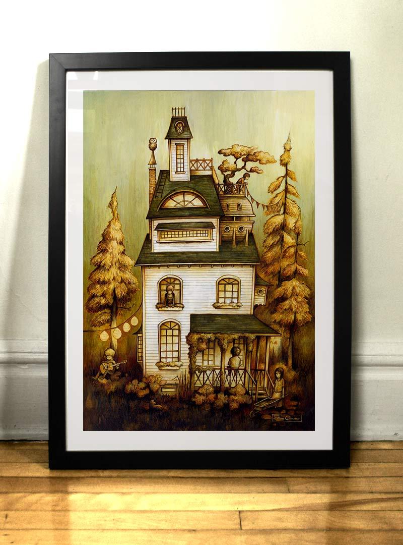 Maison d'été art print par Félix Girard