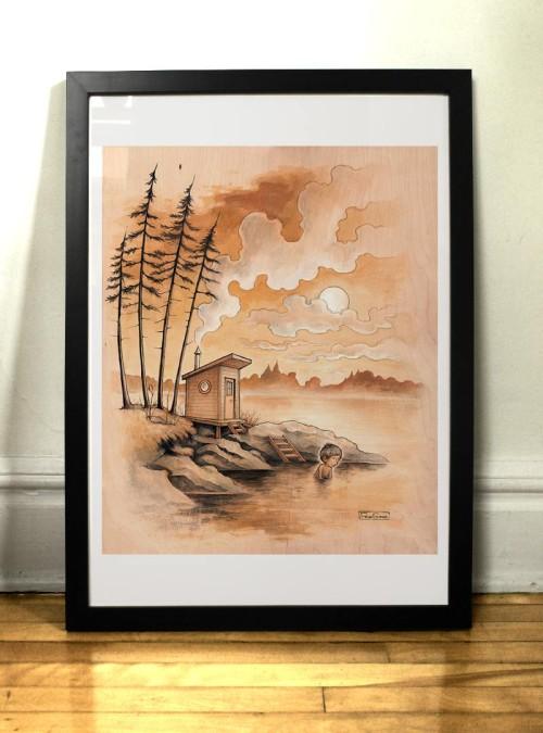 Muuratsalo art print Felix Girard illustrator