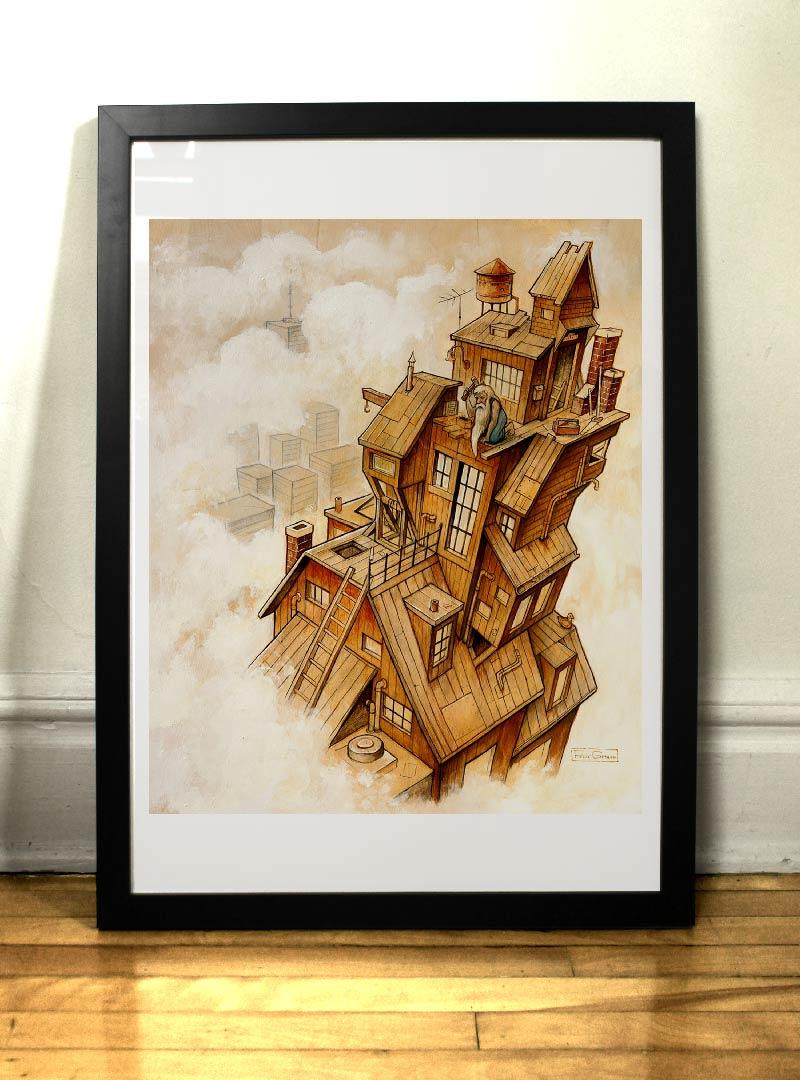 Le Gratte-ciel art print par Félix Girard