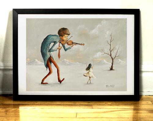 La Danseuse illustration par l'artiste Felix Girard