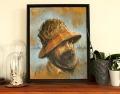 L'homme des bois. Par Félix Girard, illustrateur et artiste peintre