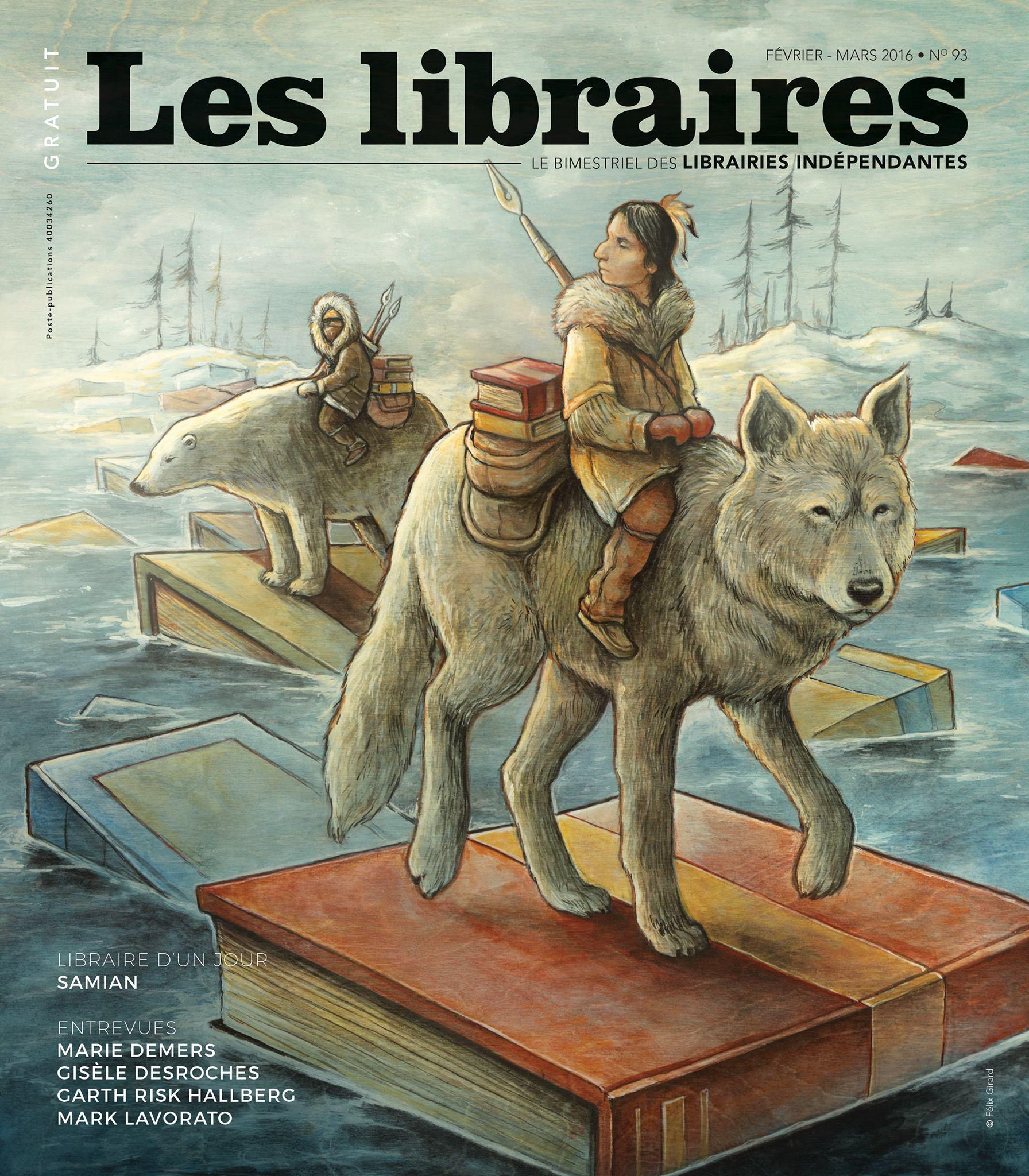 """Couverture revue """"Les libraires"""""""