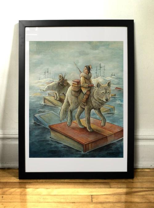 Les passeurs art print par l'illustrateur Félix Girard