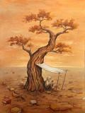 Le Desert - Peinture par l'artiste Félix Girard