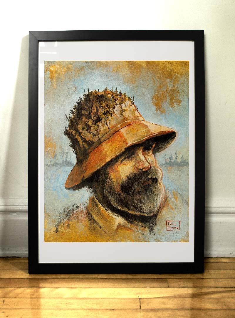 L'homme des bois impression par Félix Girard
