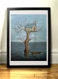 Art print Waterworld par Félix Girard