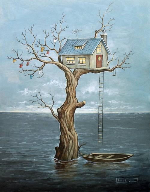 Waterworld par l'artiste Félix Girard