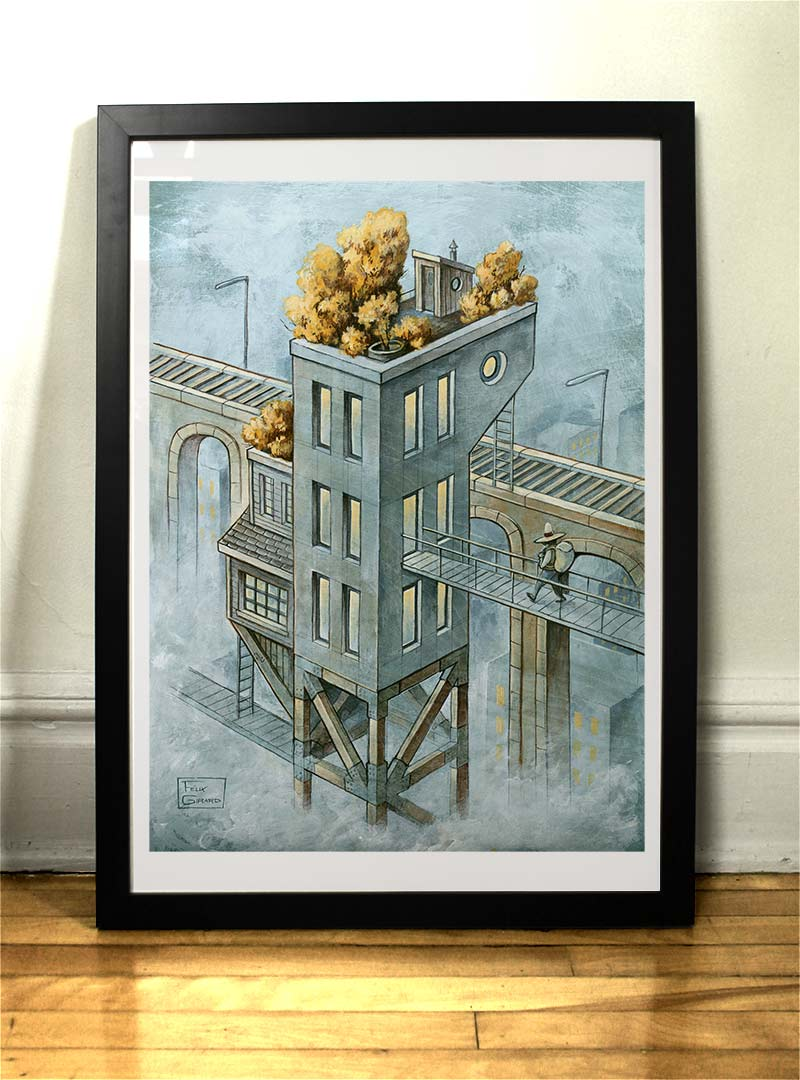 art print the station