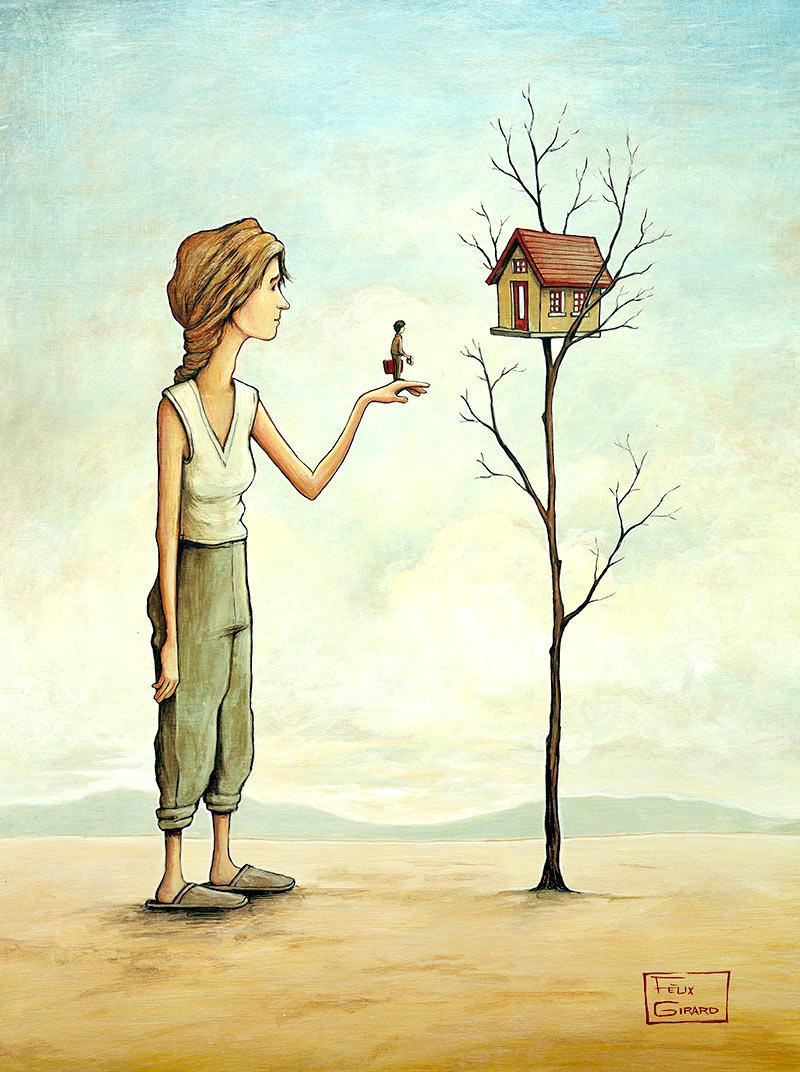 Home sweet home, tableau à l'acrylique par Félix Girard