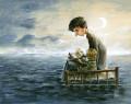 Acrylic painting from the illustrator Felix Girard