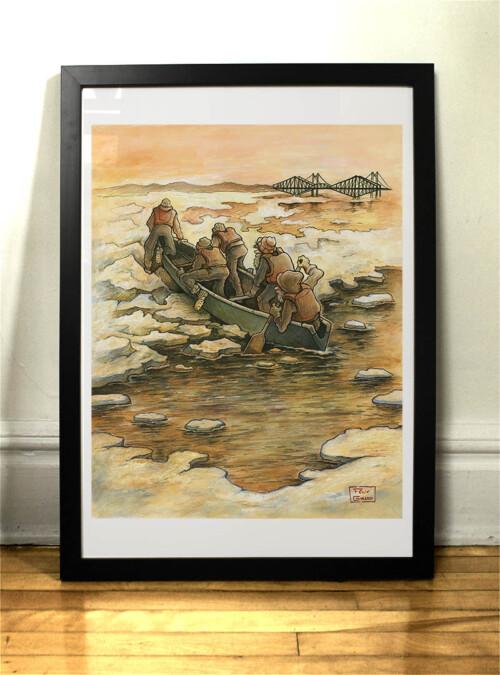 canotier canoe ice canoeing quebec