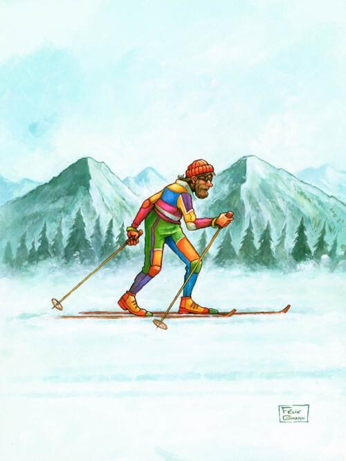Fondeur, illustration par l'artiste Félix Girard