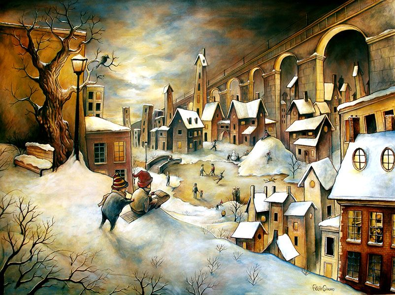 Ville en hiver