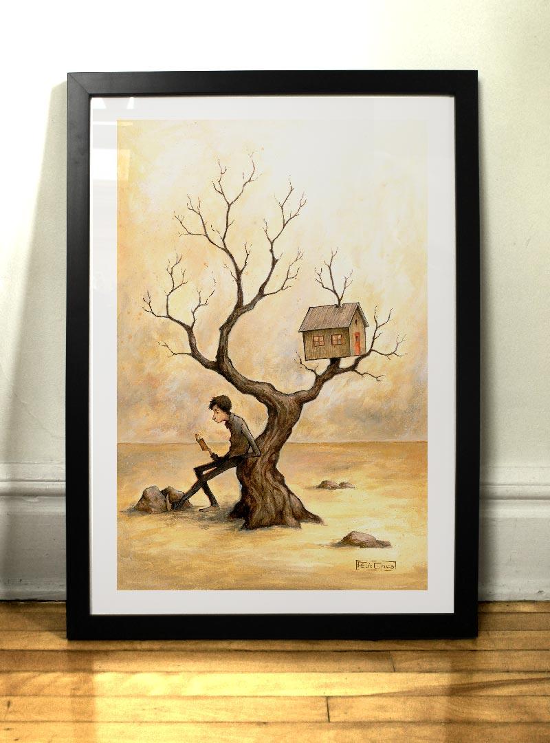 Auprès de mon arbre illustration Félix Girard
