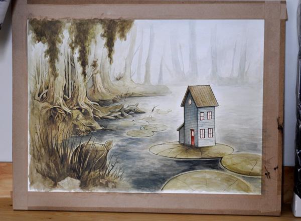 Nenuphars, peinture par Félix Girard