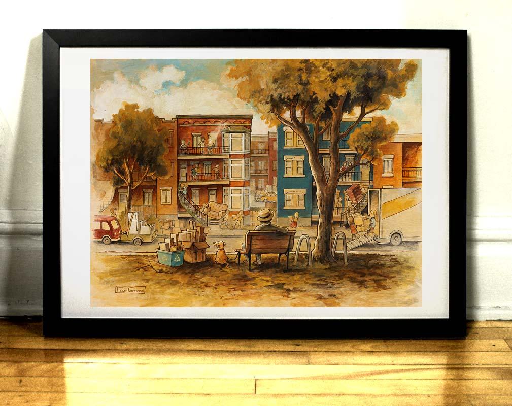 Limoilou tableau par Félix Girard