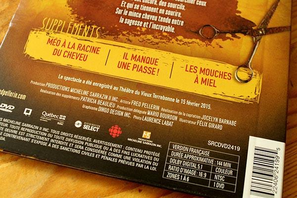 Fred Pellerin - De peigne et de misère - Pochette DVD