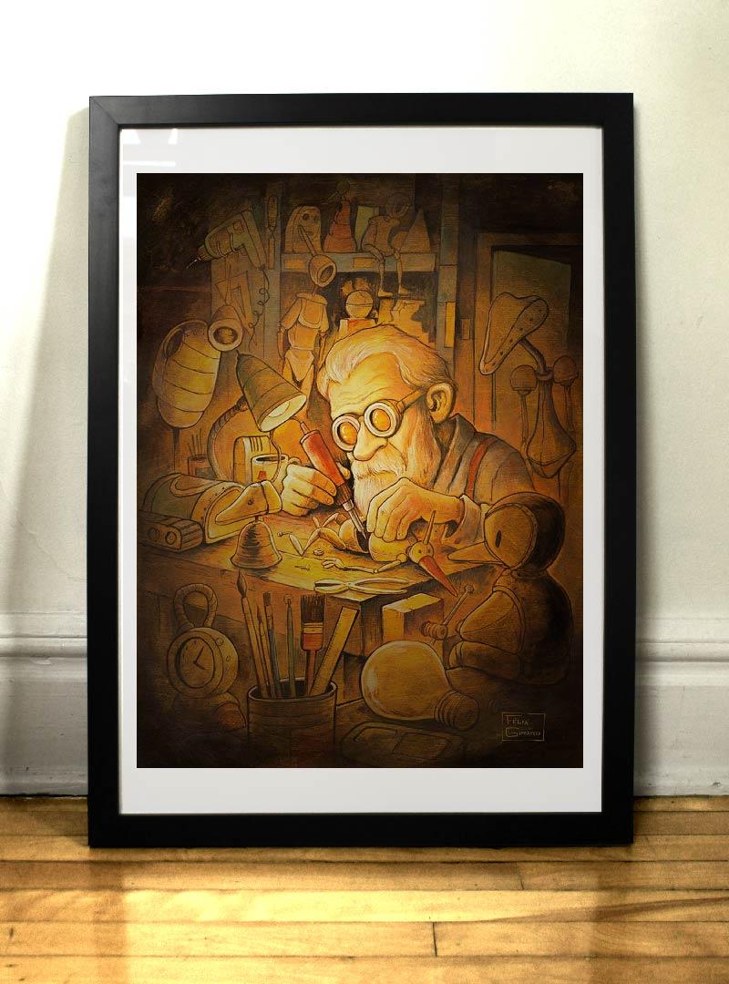 Le Marionnettiste par l'artiste Félix Girard
