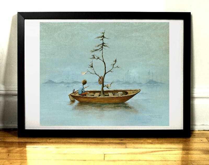 Art print la chaloupe par l'artiste Félix Girard