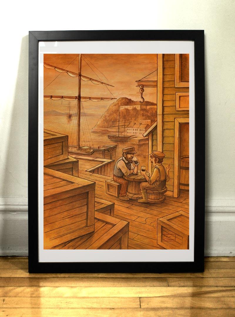 Les Débardeurs art print par Félix Girard illustrateur