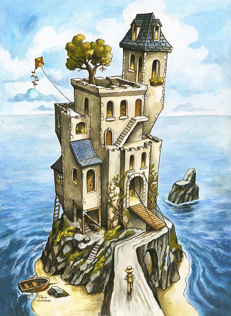 Le Château sur l'Île