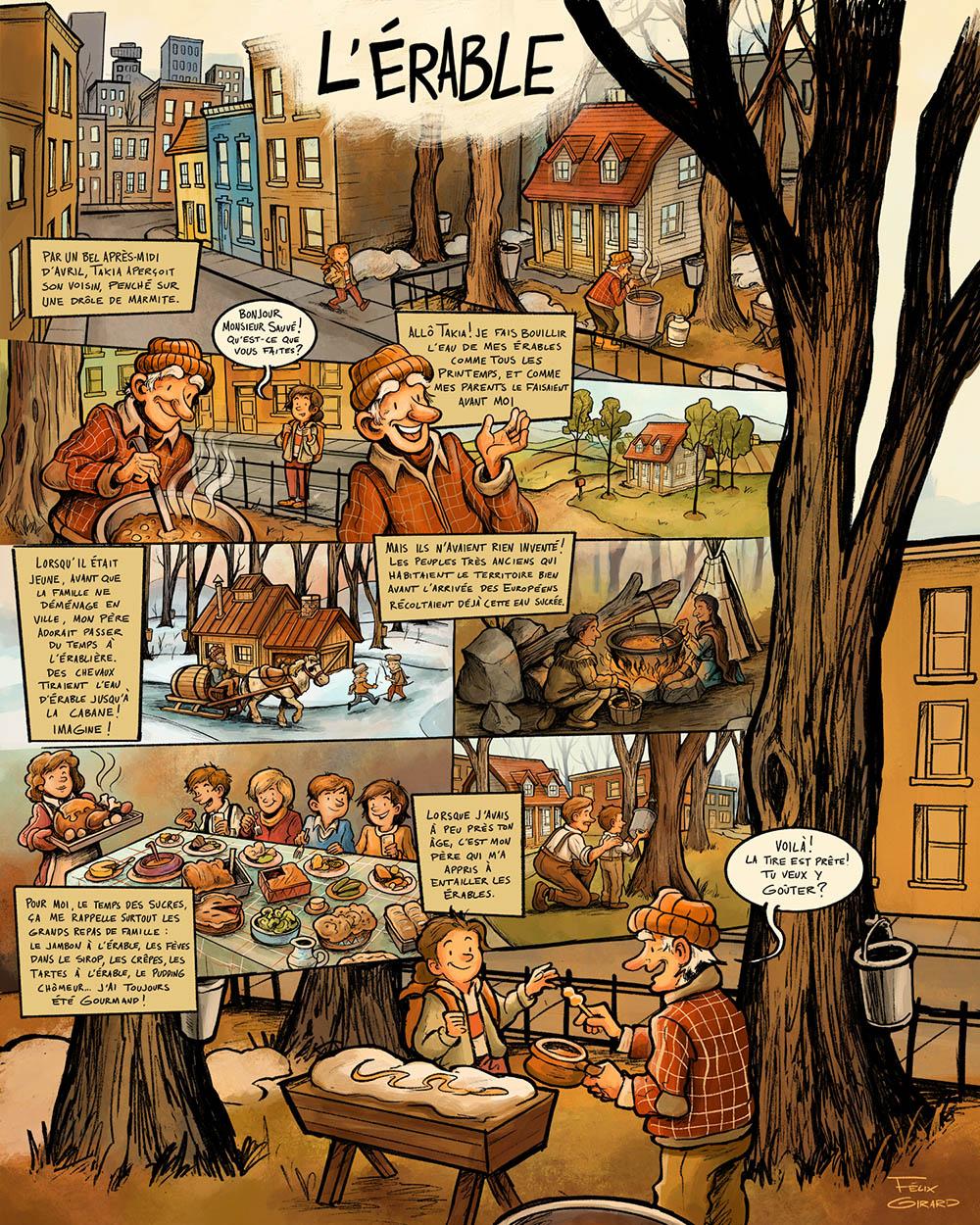 L'Érable au Grand Marché de Québec – BD promotionnelle